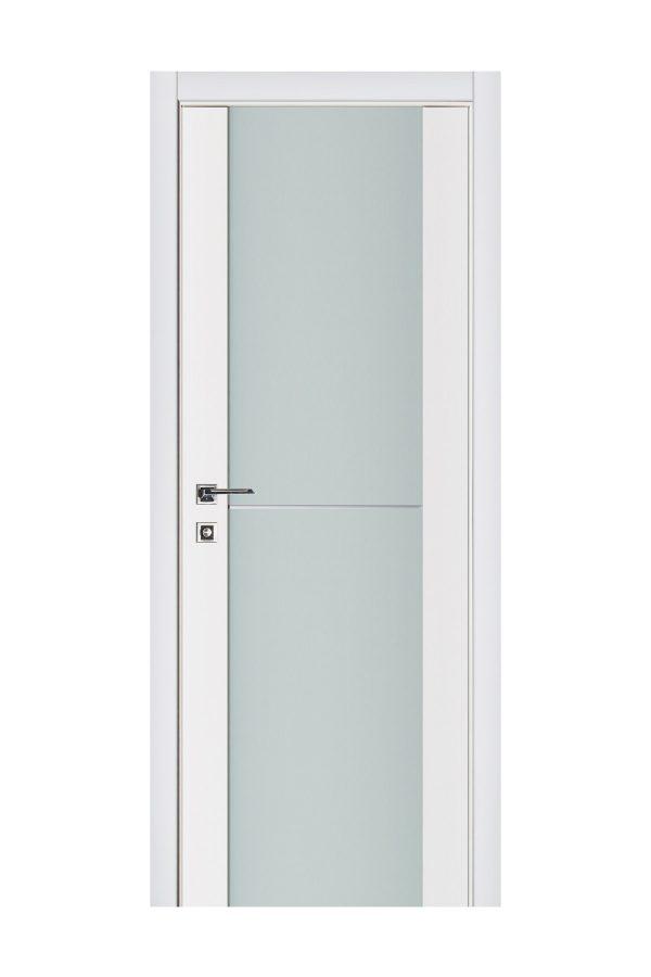Triplex 002 White Wood Lacquered Modern Interior Door