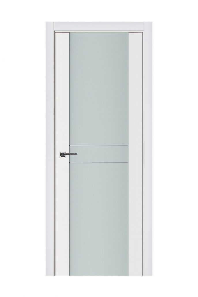Triplex 003 White Wood Lacquered Modern Interior Door