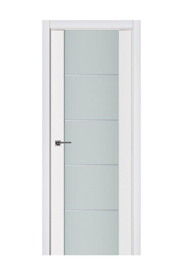 Triplex 007 White Wood Lacquered Modern Interior Door