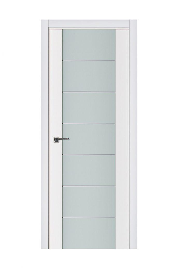Triplex 009 White Wood Lacquered Modern Interior Door