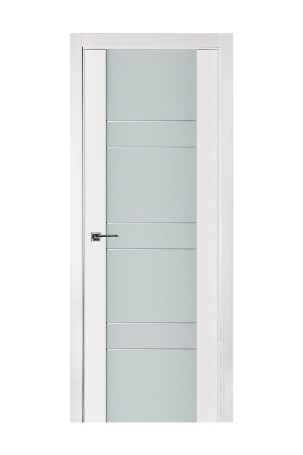 Triplex 011 White Wood Lacquered Modern Interior Door