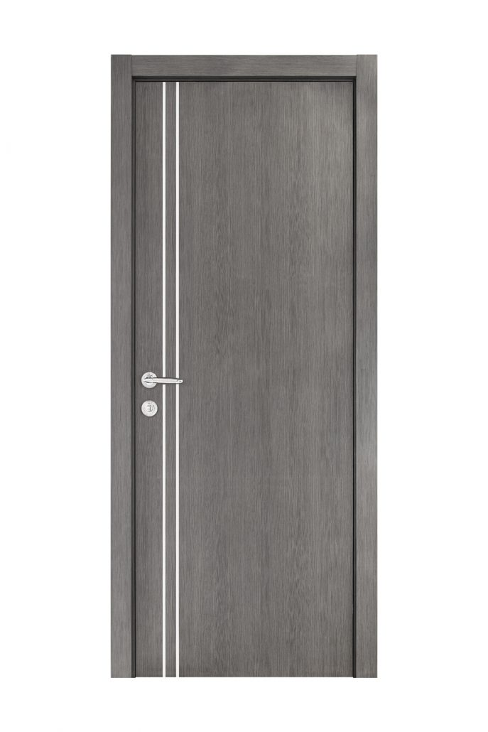 Smart 002 Gray Wood Eco Veneer Interior Door