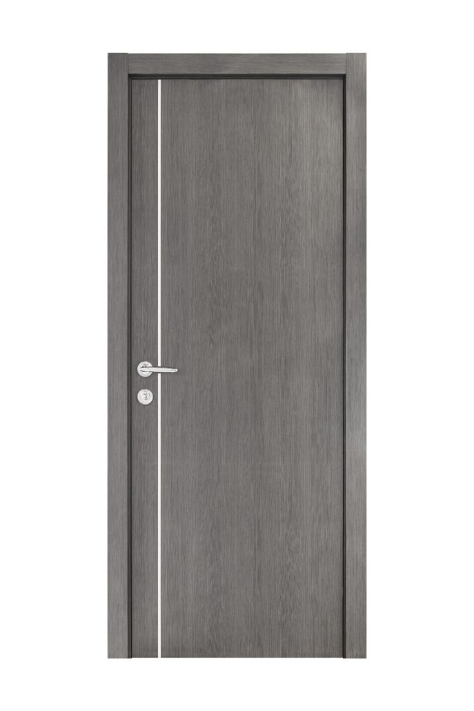 Smart 003 Gray Wood Eco Veneer Interior Door