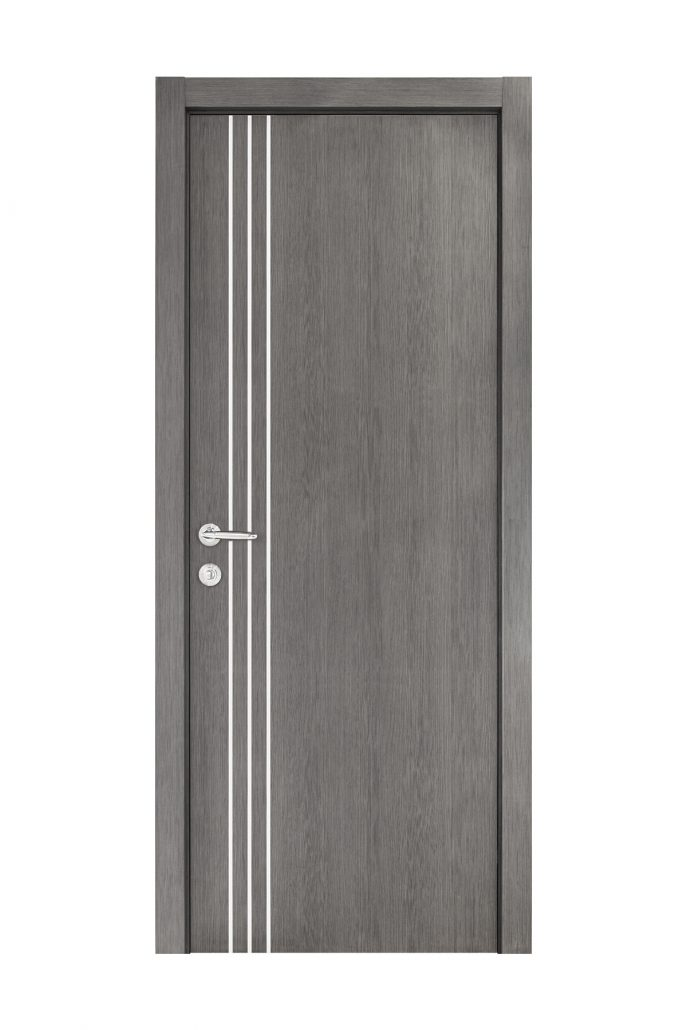 Smart 004 Gray Wood Eco Veneer Interior Door