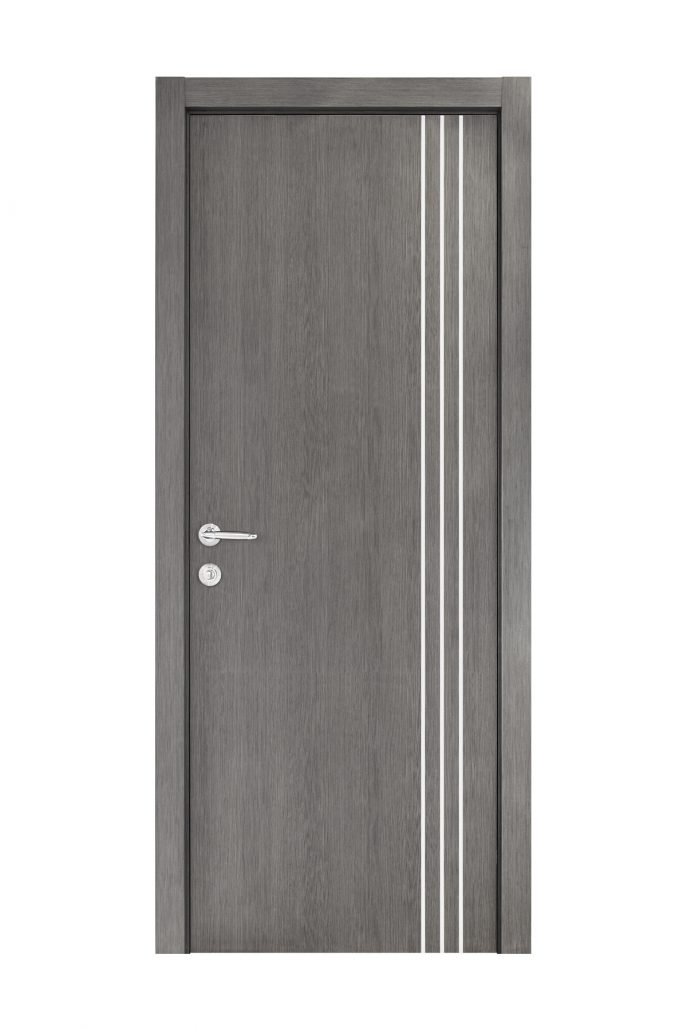 Smart 005 Gray Wood Eco Veneer Interior Door