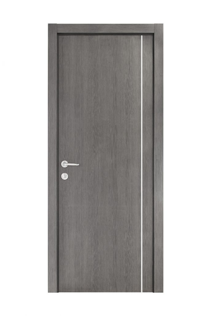 Smart 007 Gray Wood Eco Veneer Interior Door