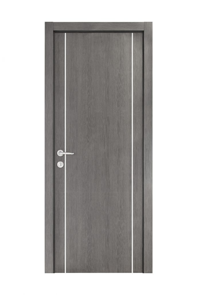 Smart 008 Gray Wood Eco Veneer Interior Door
