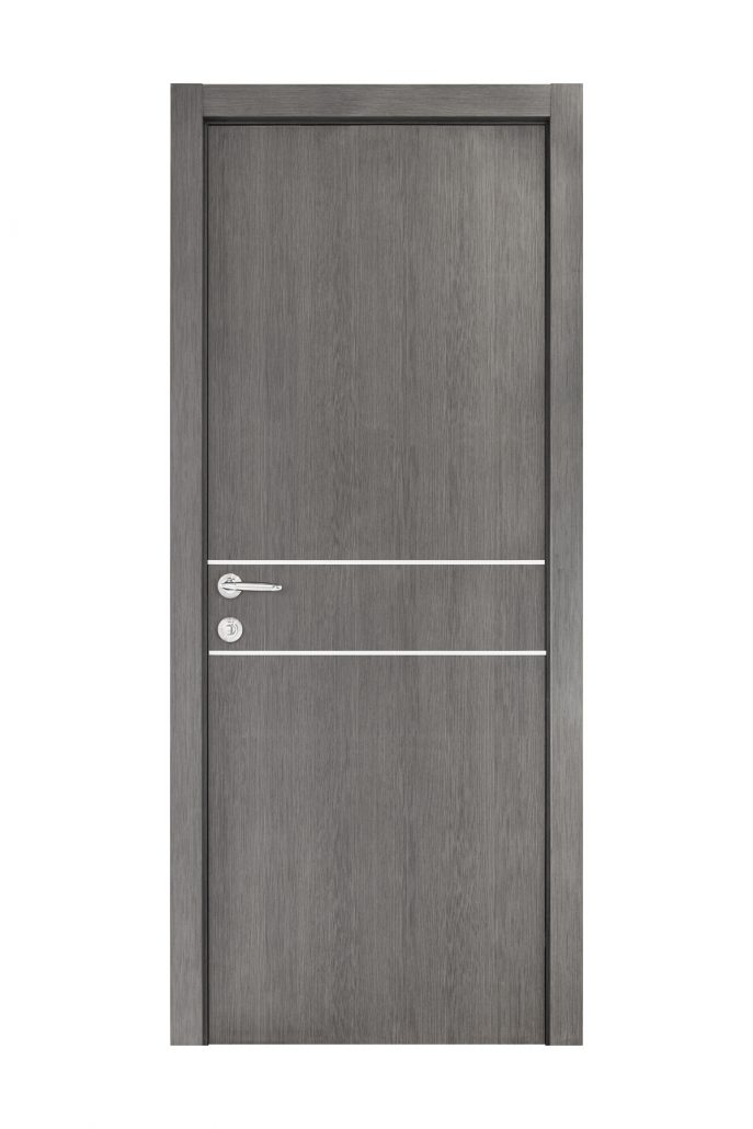 Smart 015 Gray Wood Eco Veneer Interior Door