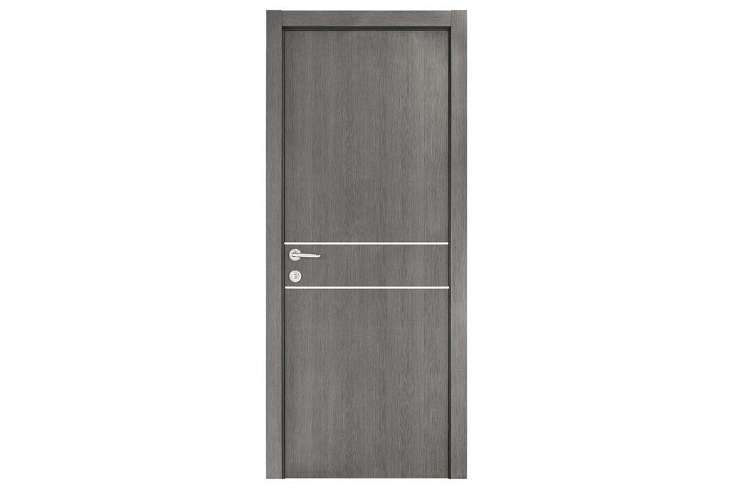Smart 015 gray wood eco veneer interior door nova for Eco doors