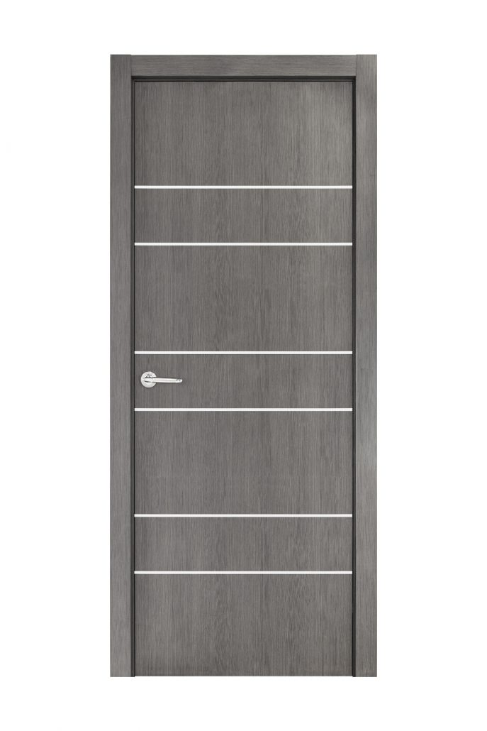 Smart 020 Gray Wood Eco Veneer Interior Door