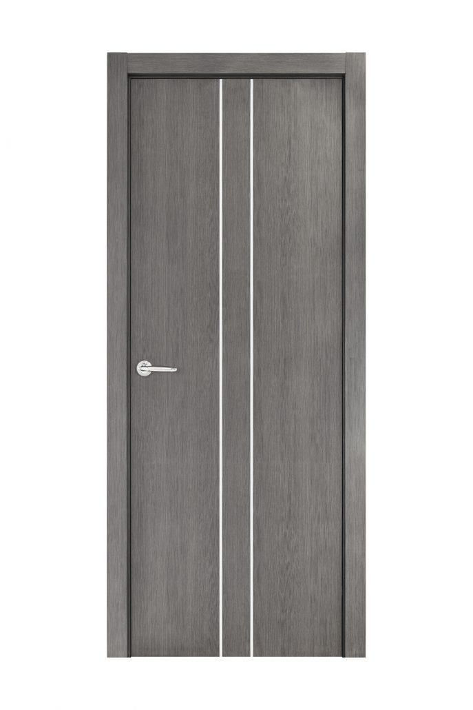 Smart 021 Gray Wood Eco Veneer Interior Door