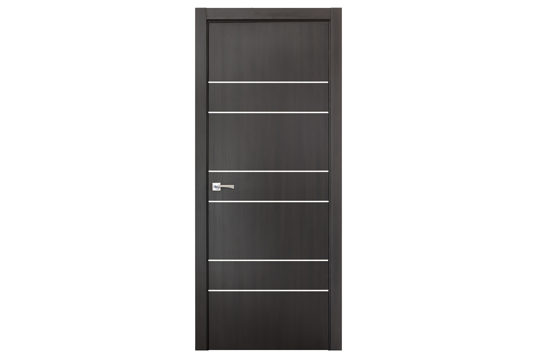 Smart 020 wenge wood eco veneer interior door nova for Eco doors