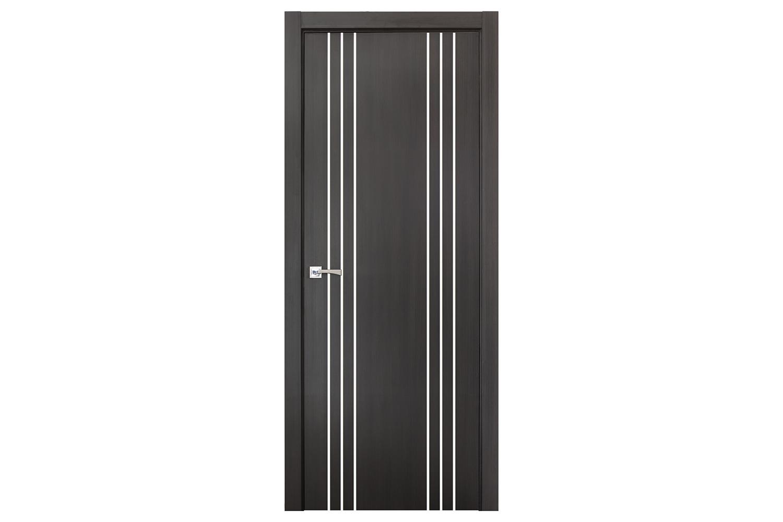 Smart 022 wenge wood eco veneer interior door nova for Eco doors