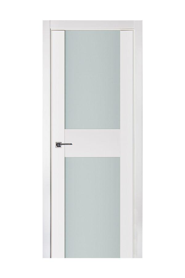 Triplex 014 White Wood Lacquered Modern Interior Door