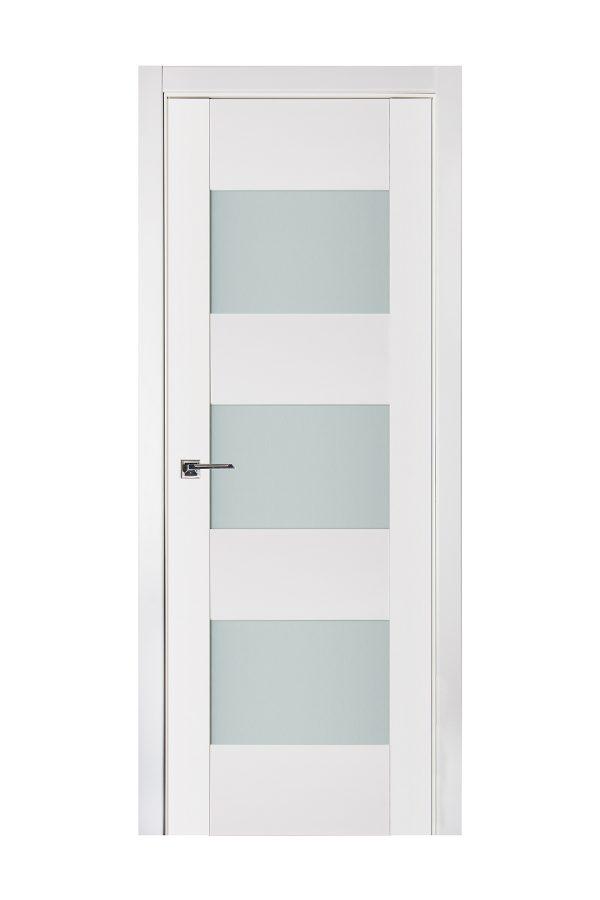 Triplex 015 White Wood Lacquered Modern Interior Door