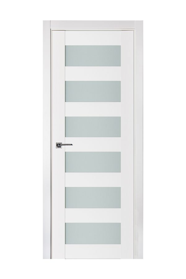 Triplex 023 White Wood Lacquered Modern Interior Door