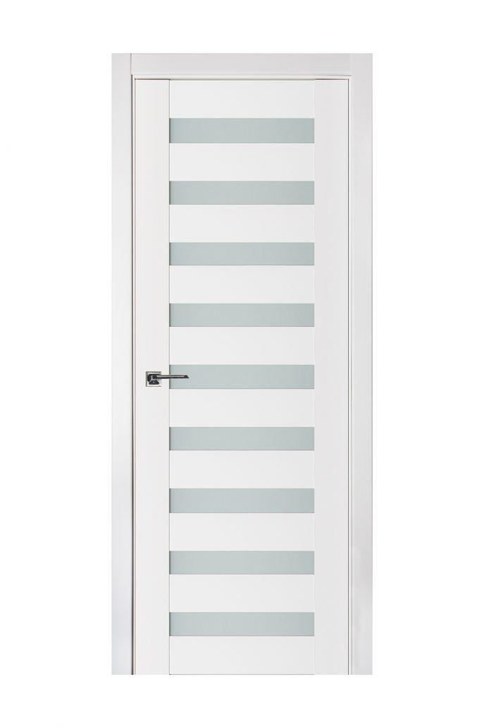 Triplex 026 White Wood Lacquered Modern Interior Door