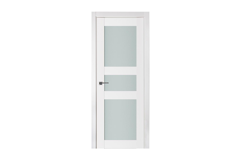 Triplex 029 White Wood Lacquered Modern Interior Door Nova Interior Doors