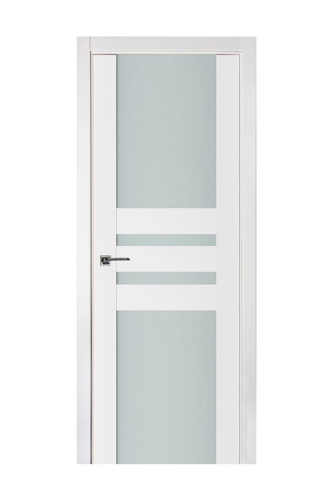 Triplex 031 White Wood Lacquered Modern Interior Door