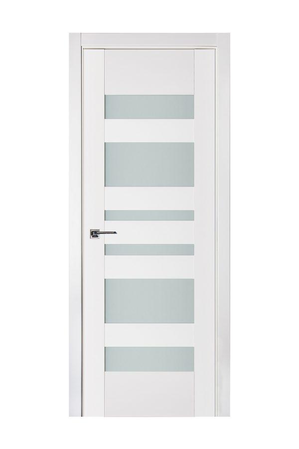 Triplex 034 White Wood Lacquered Modern Interior Door