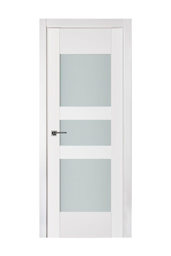 Triplex 036 White Wood Lacquered Modern Interior Door