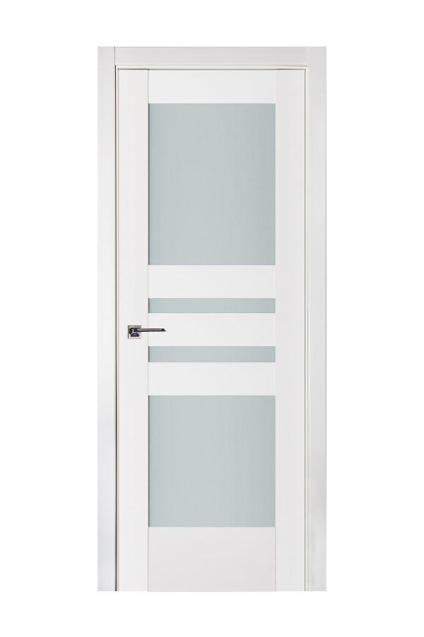 Triplex 038 White Wood Lacquered Modern Interior Door
