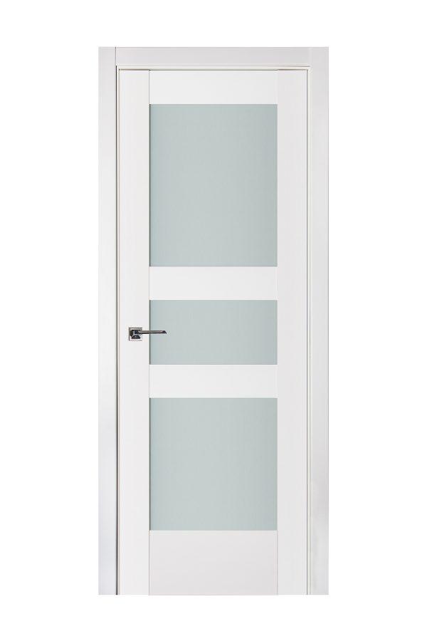 Triplex 039 White Wood Lacquered Modern Interior Door