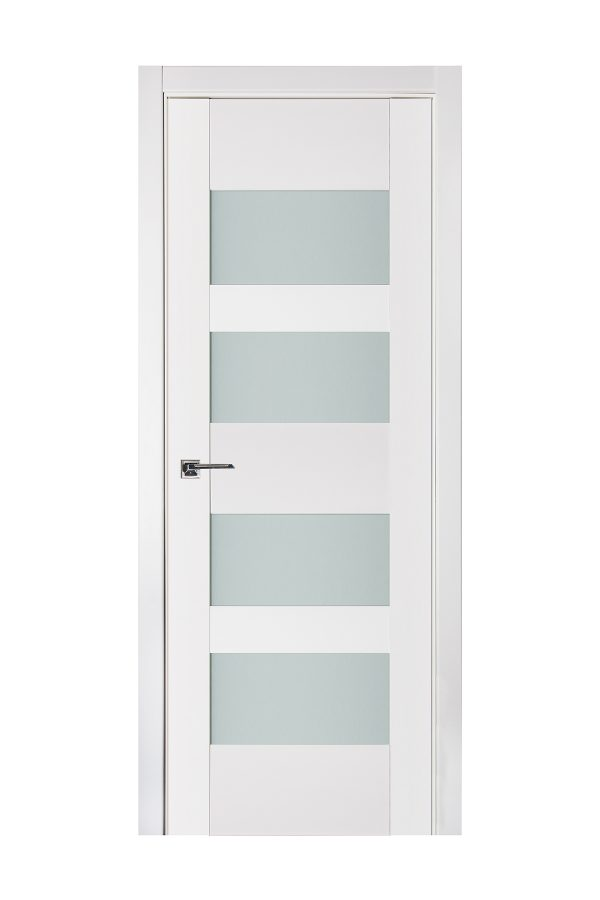 Triplex 041 White Wood Lacquered Modern Interior Door