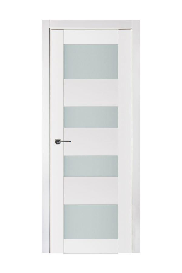 Triplex 045 White Wood Lacquered Modern Interior Door