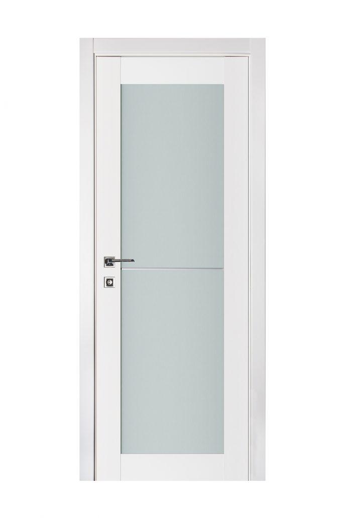 Triplex 046 White Wood Lacquered Modern Interior Door