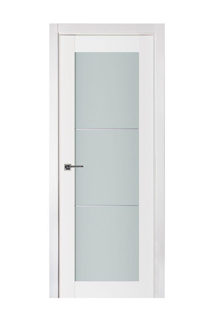Triplex 049 White Wood Lacquered Modern Interior Door