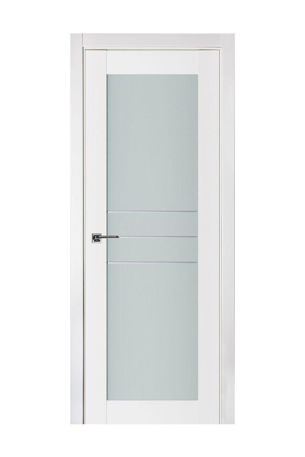 Triplex 051 White Wood Lacquered Modern Interior Door