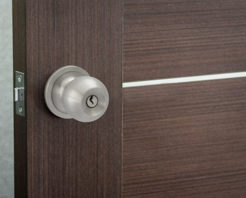 Pluto Keyed Door Knob - Installed