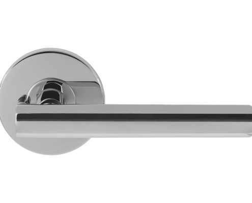 Modernus Chrome Door Lever with Privacy Pin