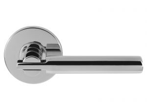 Saturn - Chrome Door Lever with Privacy Pin