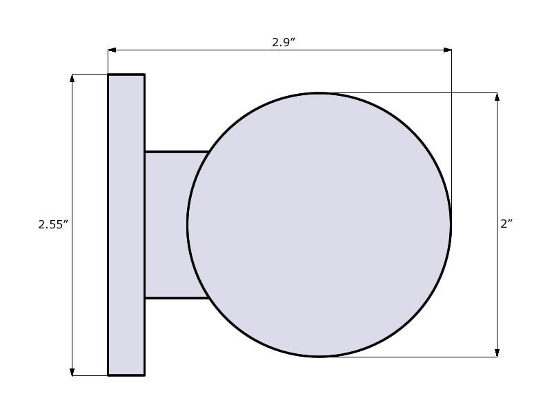 Pluto Door Knob Dimensions