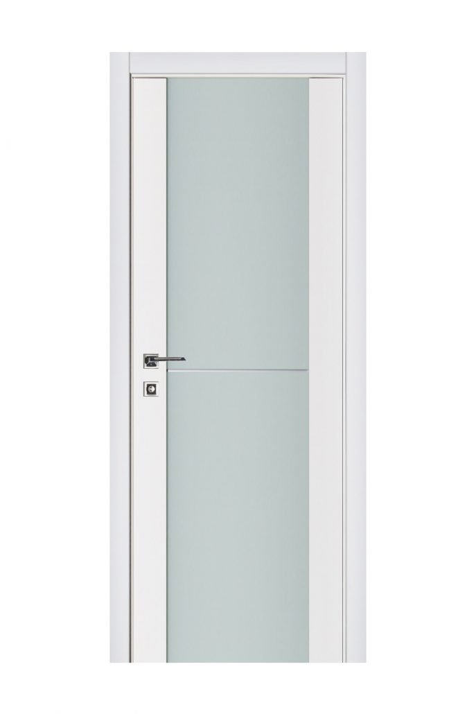 Triplex 002 White Wood Lacquered Modern Interior Door
