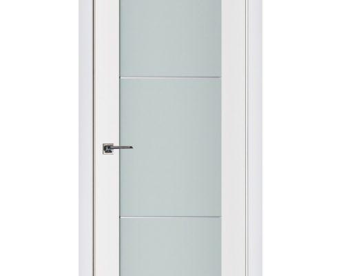 Triplex 004 White Wood Lacquered Modern Interior Door