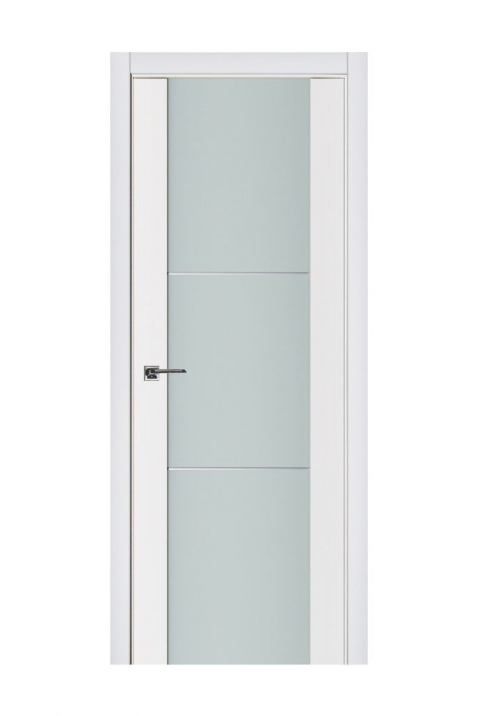Triplex 004 White Wood Lacquered Modern Interior Door