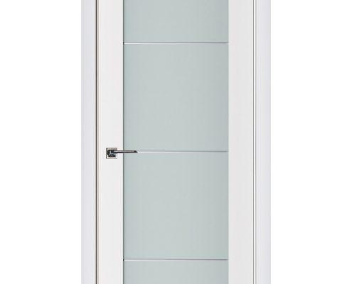 Triplex 006 White Wood Lacquered Modern Interior Door