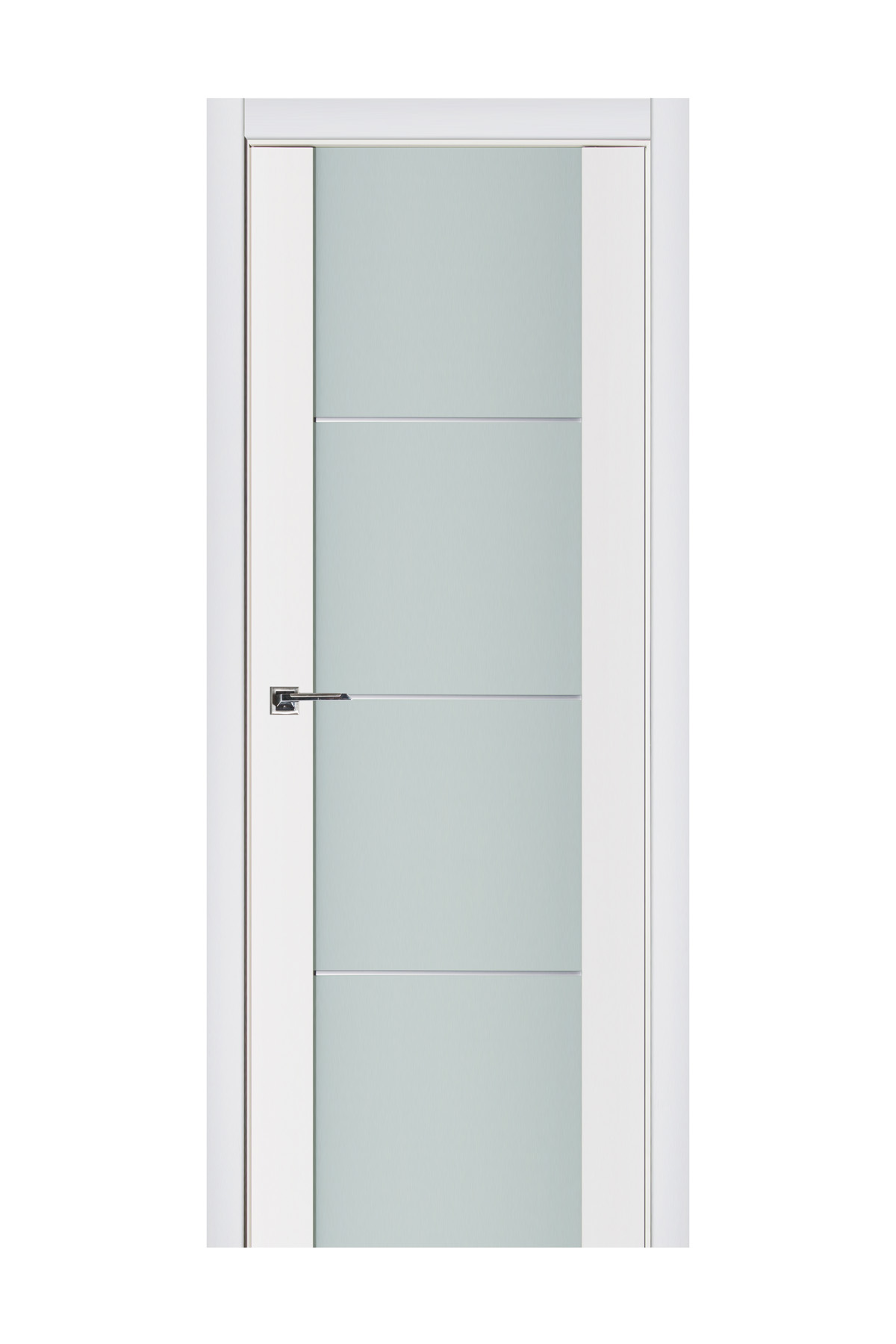 Triplex 006 White Wood Lacquered Modern Interior Door