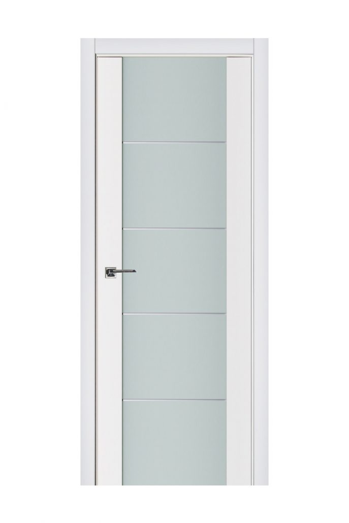 Triplex 007 White Wood Lacquered Modern Interior Door
