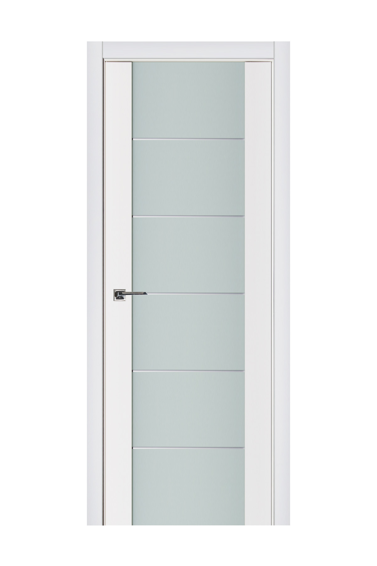Triplex 008 White Wood Lacquered Modern Interior Door
