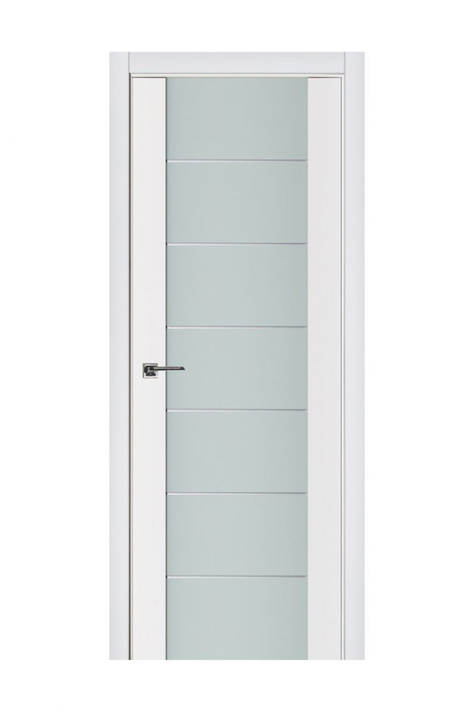 Triplex 009 White Wood Lacquered Modern Interior Door