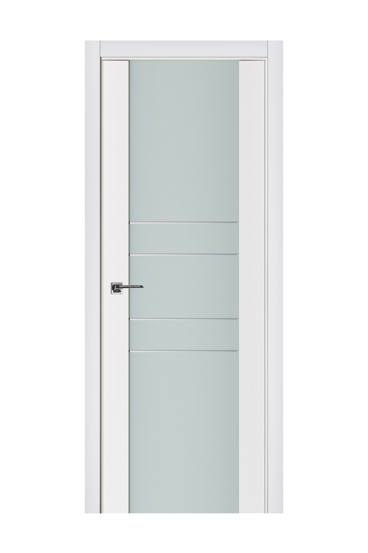 Triplex 010 White Wood Lacquered Modern Interior Door