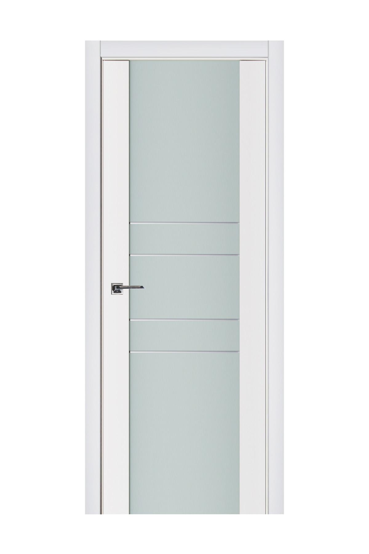 Triplex 010 White Wood Lacquered Modern Interior Door