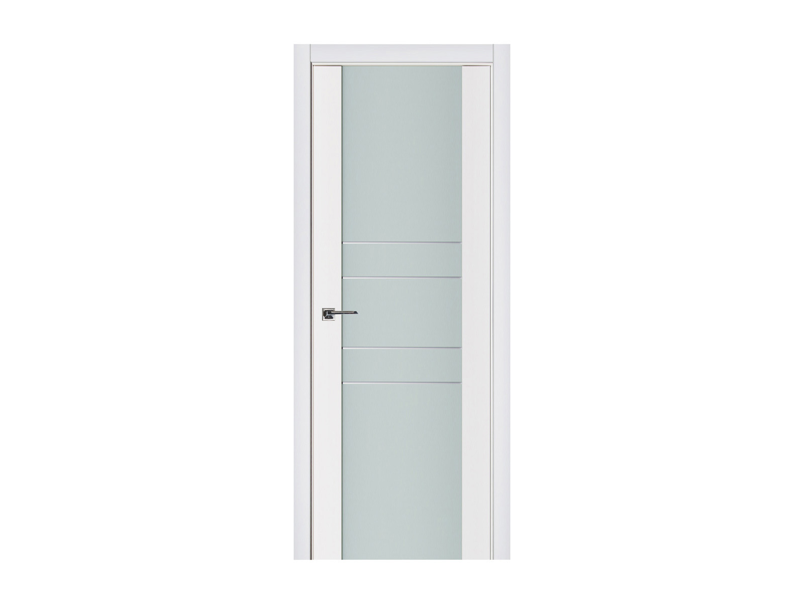 Triplex 010 White Wood Lacquered Modern Interior Door Nova