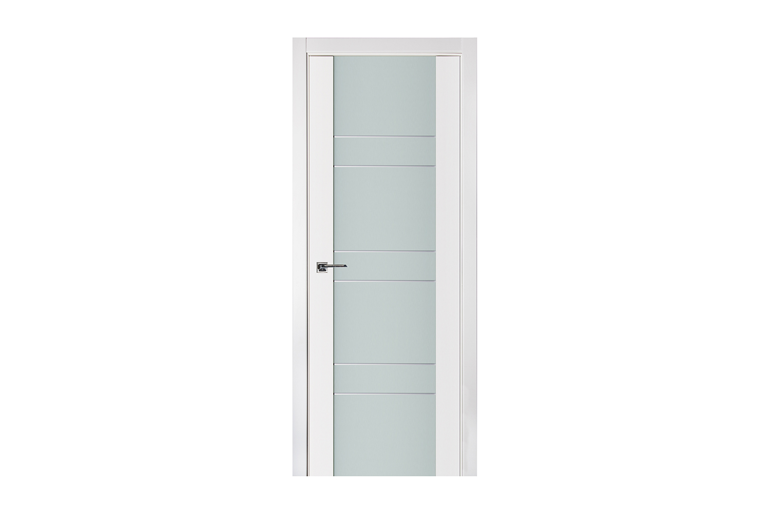 Triplex 011 White Wood Lacquered Modern Interior Door