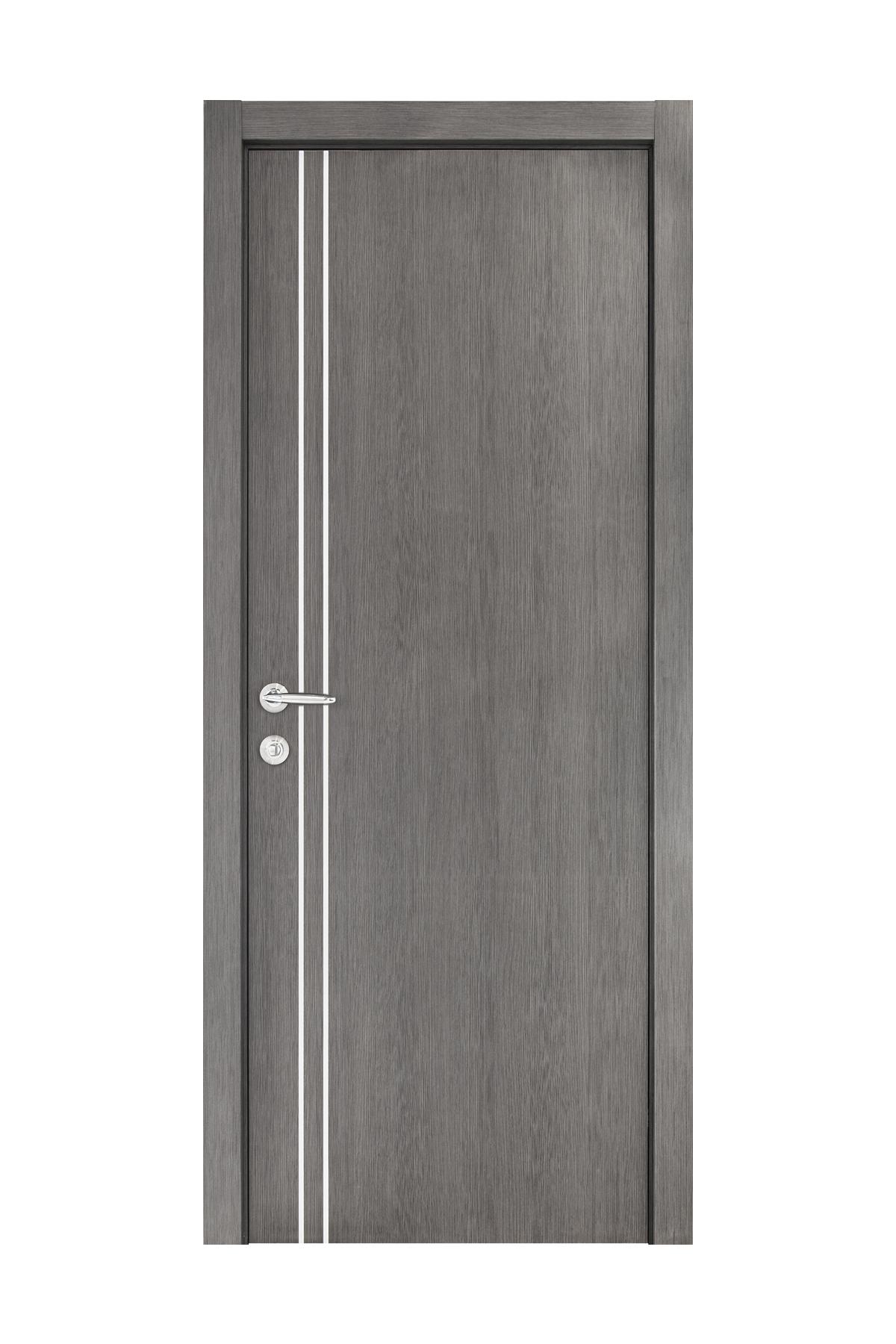 Smart 002 Gray Wood Eco Veneer Interior Door