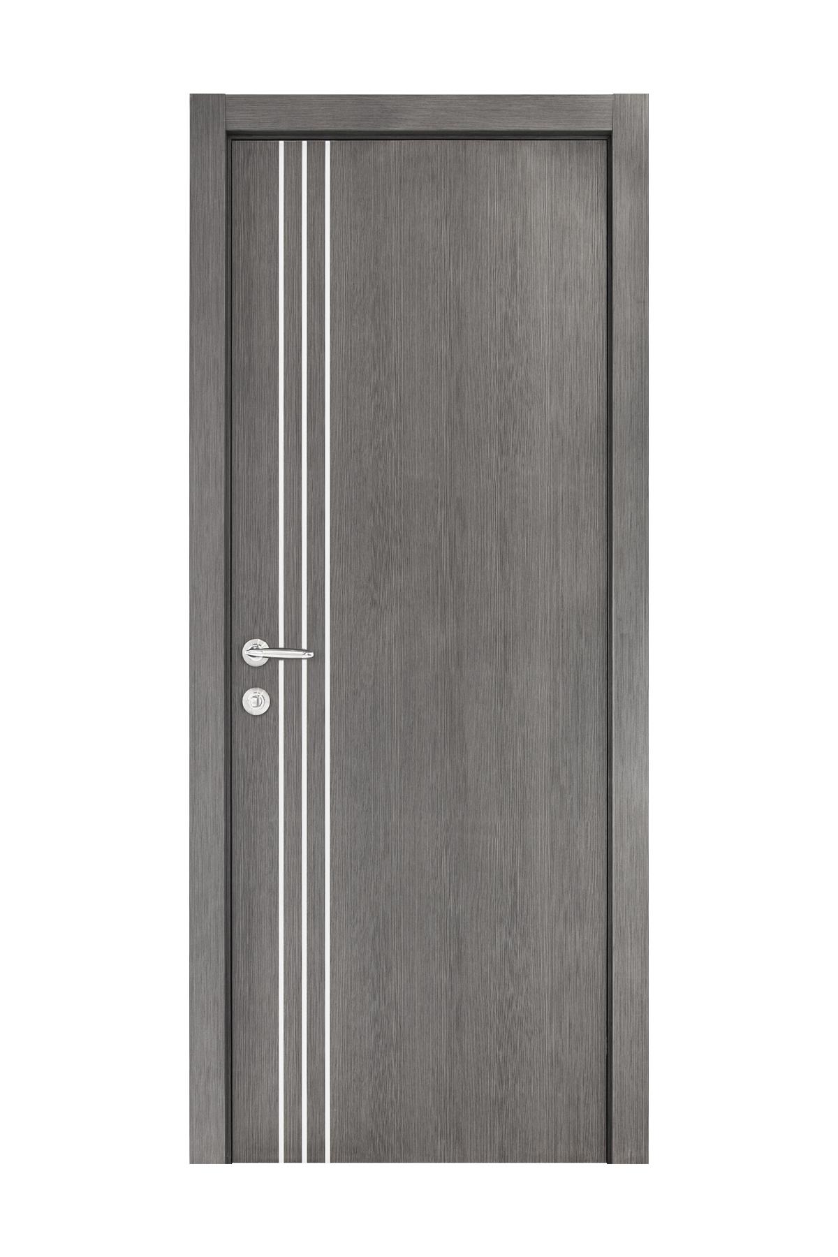 Smart 004 Gray Wood Eco Veneer Interior Door